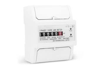 30-100A 230V Single-phase Electric Watt-hour Meter DIN-rail Type Installation Household Energy Meter