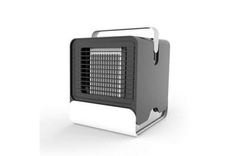 600m³/h Portable Air Conditioner Fan 3 in 1 Personal Space Air Cooler Humidifier Purifier Brushless Desktop Cooling Fan Personal Table Fan BLACK COLOR