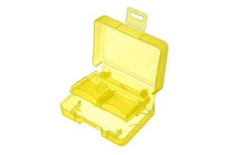Yellow Backpacker GK-1CF4SD Portable Memory Card Receiving Box Mobile TF Card Camera CF/SD Storage Card Box