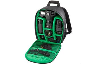 DSLR Camera Lens Storage Backpack Water-resistant Case Bag with Padded Bag GREEN