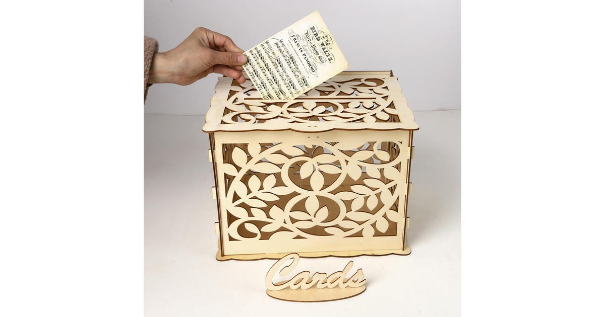 Dick Smith Wedding Card Box With Lock Diy Money Wooden Gift Leaf Boxes For Birthday Party Cabinets Countertops Hardware
