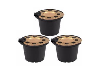 3 Pcs Gold Plating Refillable Coffee Capsule Cup Reusable Coffee Pods