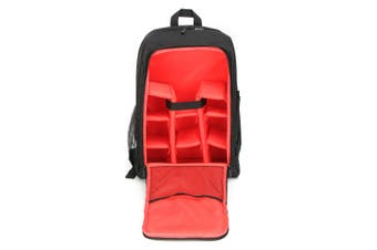 Waterproof Theftproof Large Camera Backpack Bag Case For DSLR Camera Lens RED