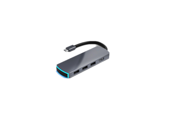 MATE 6 AIR 6 in 1 USB-C Data Hub with 6-Port USB 3.0 TF SD Card Reader USB-C HDMI for MacBooks Notebooks Phone