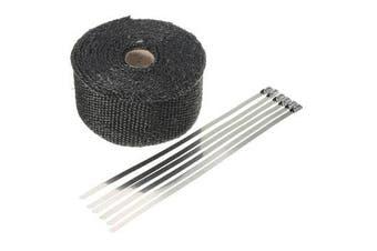 Black High Heat Insulation Fiber Glass Wrap Exhaust Header Pipe Tape