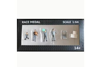 RM 1:64 Scale Figures Diorama To Move The Box Freight Courier Stevedore Model GRAY COLOR