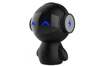 M10 Multi-function Mini Robot USB Charging Wireless Bluetooth Speaker Power Bank (Black)