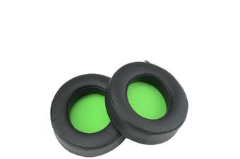 2 PCS For Razer Kraken 7.1 V2 Pro Headphone Cushion Sponge Green Net Cover Earmuffs Replacement Earpads