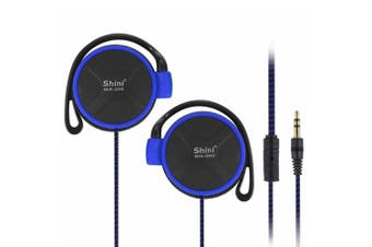 2PCS  Q940 3.5mm Super Bass EarHook Earphone for Mp3 Player Computer Mobile(Blue No Mic)