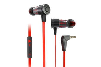 G25 3.5mm Gaming Headset In-ear Wired Magnetic Stereo With Mic(Red)