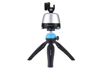 Electronic 360 Degree Rotation Panoramic Head + Tripod Mount + GoPro Clamp + Phone Clamp with Remote Controller for Smartphones, GoPro, DSLR Cameras