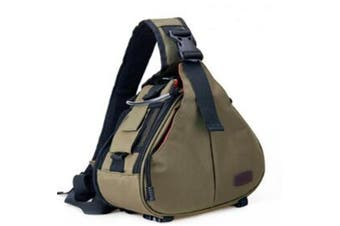Triangle Shape Tscope Sling Shoulder Cross Digital Camera Bags Case Soft Bag with Rain Cover for Canon Nikon Sony k1