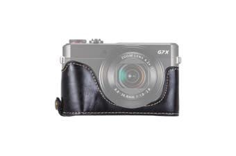 1/4 inch Thread PU Leather Camera Half Case Base for Canon G7 X Mark II