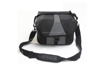 Portable Waterproof Nylon Surface Material Outdoor Sports Sling Shoulder Bag Handheld DSLR Camera Bag Bag with Adjustable Detachable Shoulder Strap for GoPro, SJCAM, Nikon, Canon, Xiaomi Xiaoyi YI, Size: 24.5*14*19cm(Black)