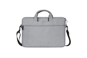 Waterproof Oxford Cloth Hidden Portable Strap One-shoulder Handbag for 15.6 inch Laptops(Light Grey)