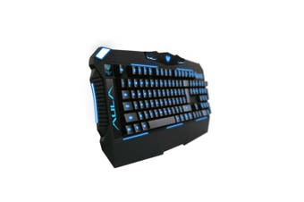 Professionally 104 Keys Wired USB Gaming Keyboard with 3-Color LED Backlight