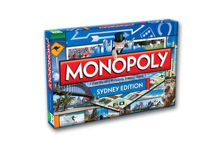 2PK Monopoly Kids/Family Board Game 8y+ Australian Sydney & Melbourne Edition