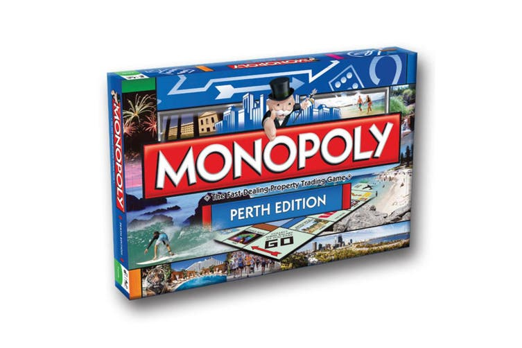 Monopoly Kids/Family Australian Perth Edition Property Trading Board Game 8y+