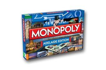 Monopoly Kids/Family Australian Adelaide Edition Property Trading Board Game 8y+