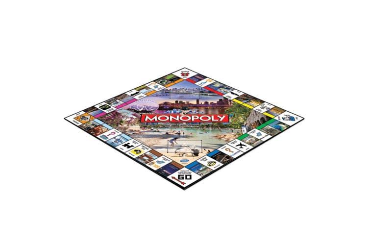 2PK Monopoly Kids/Family Board Game 8y+ Australian Brisbane & Gold Coast Edition