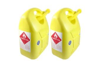 2x 20L Fuel Container for Petrol/Fuel/Diesel/Kerosene Storage Heavy Duty Yellow