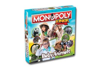 Monopoly Junior Baby Animals Board Game 5y+ Family/Kids/Adult Play Cards/Toy
