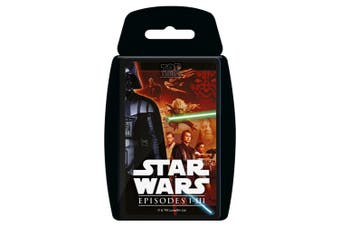 Top Trumps Star Wars 1-3 I-III Educational Card Game 6y+ Family/Kids/Adult Toy