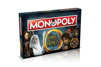 Monopoly Lord Of The Rings Board Game 8y+ Family/Kids/Adult Play Cards/Money/Toy