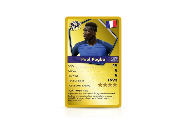 Top Trumps 2018 World Football Soccer Stars Educational Card Game Family/Kids 6+