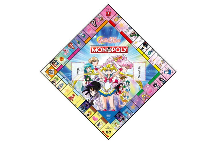 Monopoly Anime Sailor Moon Board Game 8y+ Family/Kids/Adult Play Cards/Money/Toy