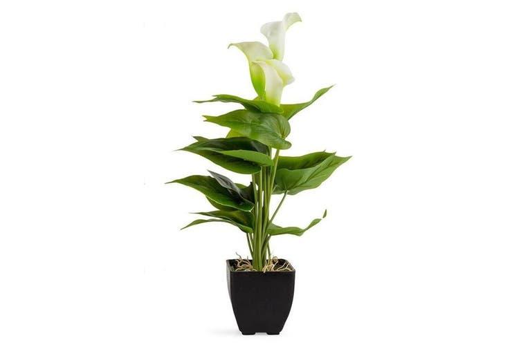 Potted Calla Lily 10x40cm Decoration Artificial Flower/Plant Home Decor WHT/GRN