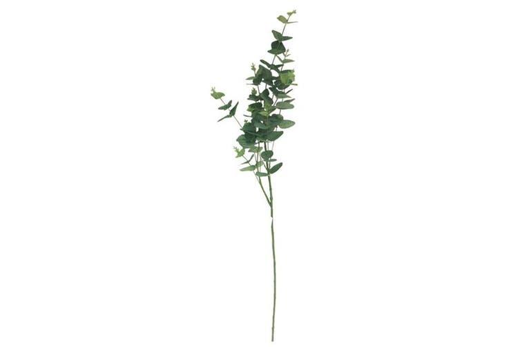 Faux Eucalyptus Spray Stem 90cm Plastic Artificial Plant Garden/Home Decor Green