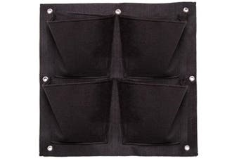 Wall Planters 49.5x50cm Flower/Plant Container/Storage Hanging Home Decor Black