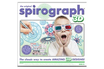 Original Spirograph 3D Kit Set W/ 3D Glasses Draw/Drawing Kids Art/Design/Craft