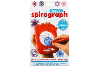 Original Spirograph 10 Piece Travel Set Draw/Drawing Kids Art/Design/Craft