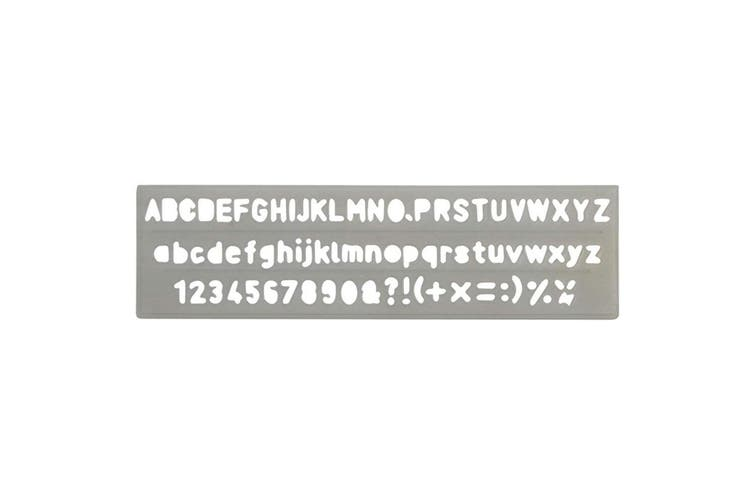 2PK Celco Lettering Stencil 5mm 0-9 Numbers/Letters/Symbols Alphabet Art/Craft