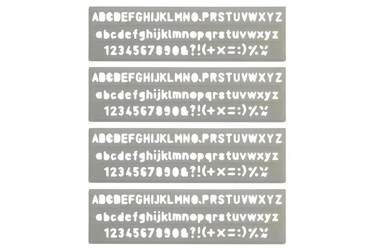 4PK Celco Lettering Stencil 5mm 0-9 Numbers/Letters/Symbols Alphabet Art/Craft