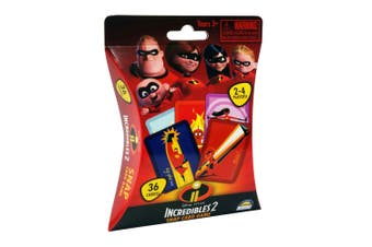 36pc Disney Incredibles 2 Snap Kids Educational Toys Playing Deck Card Game 3y+