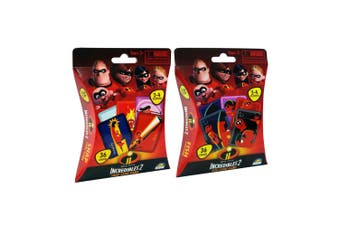 Disney Incredibles 2 36pc Snap & 36pc Fish Playing Deck Kids Card Game Combo 3y+