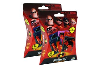 2PK 36pc Disney Incredibles 2 Fish Kids Educational Playing Deck Card Game 3y+
