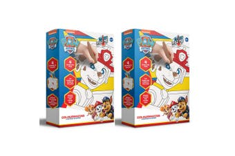 2x Colour Mazing Paw Patrol Magic Ink Pads/Pens Kids Interactive Art/Crafts Kit