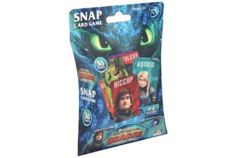 36pc DreamWorks How To Train Your Dragon Snap Card Play Game Kids/Children 3y+