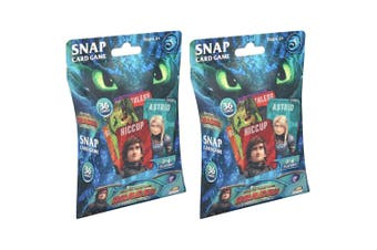 2x 36pc DreamWorks How To Train Your Dragon Snap Card Play Game Kids/Child 3y+