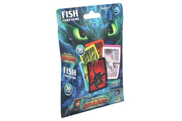 36pc Dream Works How to Train Your Dragon Fish Card Memory Game Kids Toys 3y+