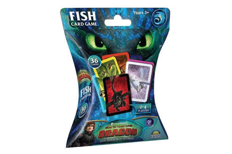 2x 36pc Dream Works How to Train Your Dragon Fish Card Memory Game Kids Toys 3y+