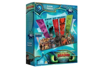 46pc Dream Works How to Train Your Dragon Floor Puzzle Game Kids 3y+ Toys w/ Box