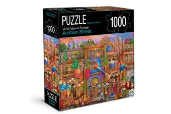 1000pc Crown Vivid Views Series Arabian Street 68.6cm Jigsaw Puzzle Toy 15y+