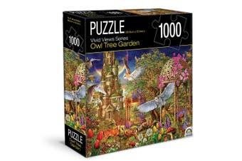 1000pc Crown Vivid Views Series Owl Tree Garden 68.6cm Jigsaw Puzzle Toy 15y+
