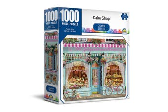 1000pc Crown Charm Series Cake Store 68.5cm Jigsaw Puzzle Toys 8y+ Family/Kids