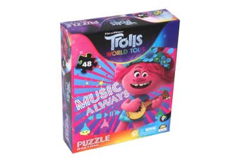 48pc Trolls World Tour Jigsaw Puzzle Kids/Child 3y+ Educational Toy Music Always